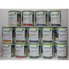 OSMO Landhausfarbe, jól takaró selyemmatt festék fára - 750 ml