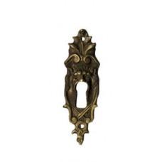 Kulcslyuk címer, függőleges, sárgarézből, 23X77 mm - 1 db