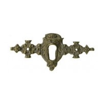 Kulcslyuk címer, vízszintes, sárgarézből, 84X40 mm - 1 db