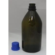 Barna üveg kémiai anyagoknak ellenálló 1 Liter űrtartalom - 1 db