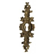 """Kulcslyuk címer, függőleges, sárgarézből, """"Gründerzeit"""", 35X107 mm - 1 db"""