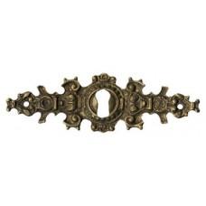 """Kulcslyuk címer, vízszintes, sárgarézből, """"Gründerzeit"""", 107X35 mm - 1 db"""