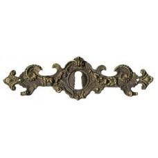 """Kulcslyuk címer, vízszintes, sárgarézből, """"Gründerzeit"""", 135X40 mm - 1 db"""