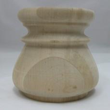 Égerfa láb, magasság: 85 mm,  átmérője: 90 mm