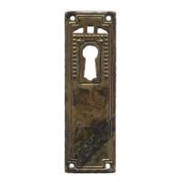 "Kulcslyuk címer, függőleges, sárgarézből, ""Jugendstil-Art Deco"", 27X85 mm - 1 db"