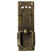 "Fogantyú sárgarézből, függőleges, ""Jugendstil-Art Deco""  27x85 mm - 1 db"