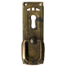 "Kulcslyuk címer, függőleges sárgarézből  ""Jugendstil-Art Deco"" , 27X85 mm - 1 db"