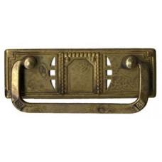 """Fogantyú sárgarézből, vizszintes, """"Jugendstil-Art Deco""""  97x33 mm - 1 db"""