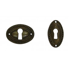 Kulcslyuk címer sárgarézből, patinásított