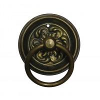 """Gyűrű sárgarézből """"Biedermeier"""" patinásított, 50x62 mm - 1 db"""