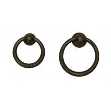 Sárgaréz gyűrű, patinásított
