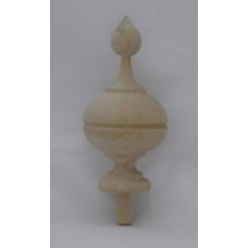 Bútordísz éger fából - 100X50 mm - 1 db