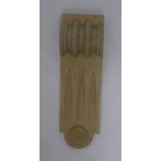 Bútordísz éger fából 135X42 mm