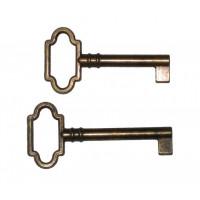 Kulcs fém ötvözetből. patinásított, üreges