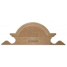 Bútorfeltétdísz éger fából, kézzel faragott - 1 db