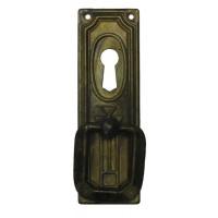 "Kulcslyuk címer, függőleges sárgarézből  ""Jugendstil"" , 27X85 mm - 1 db"