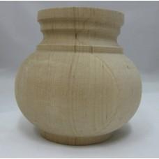 Égerfa láb, magasság: 95 mm,  átmérője: 100 mm