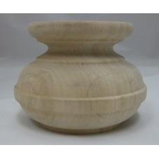 Égerfa láb, magasság: 75 mm,  átmérője: 100 mm