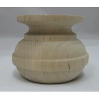 Égerfa láb, magasság: 60 mm,  átmérője: 75 mm