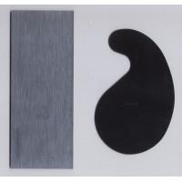 Szögletes és hattyúnyak alakú simitó vas, acélból